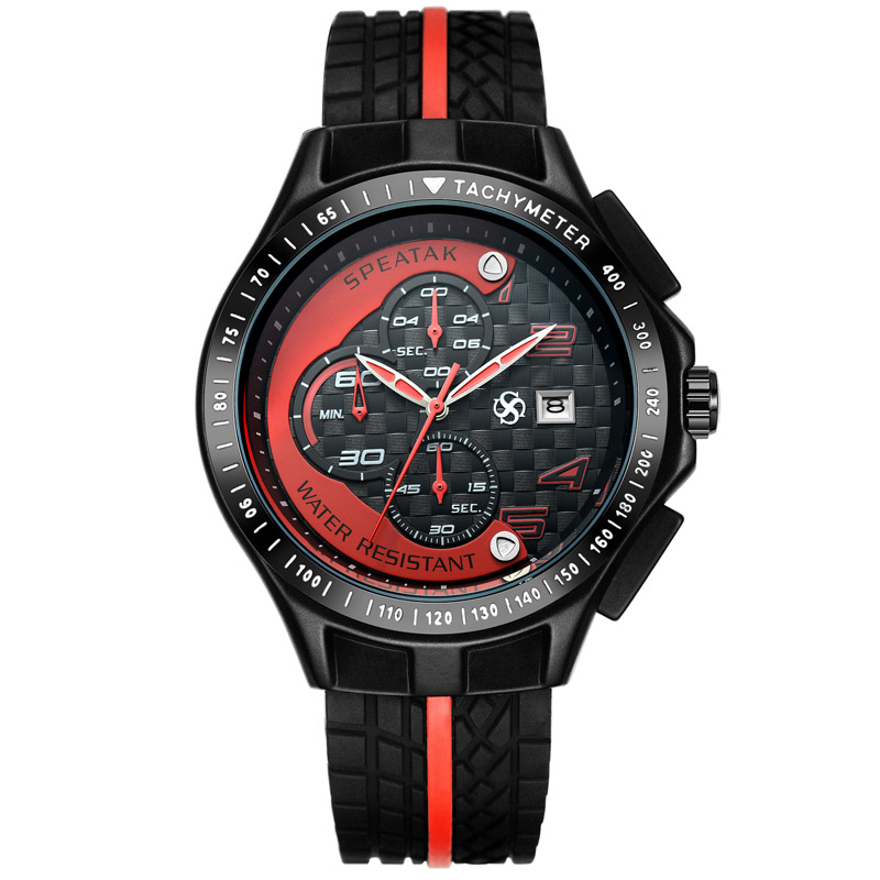 2015 New Men Racer Sports Watches Chronograph Function 6 Hands Quartz Date Clock Man Silicone Strap Luxury Top Brand Wrist Watch<br><br>Aliexpress