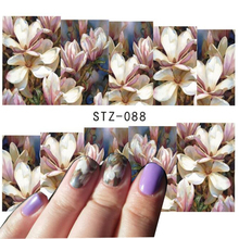 1 sheet Nail Art Water Transfer Nail Stickers Decal Flower Designs Nail Decorations DIY Watermark Wraps Manicure Tools #STZ088(China (Mainland))