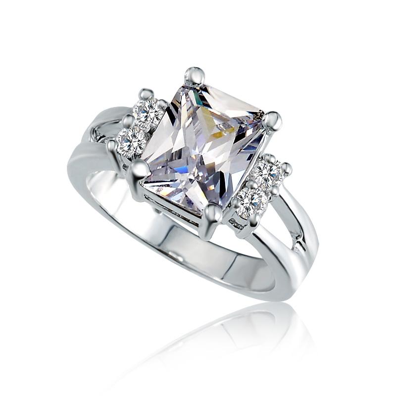 2016 New Fashion Zircon Wedding Ring Brand Designer Rose Gold Finger Rings Fo