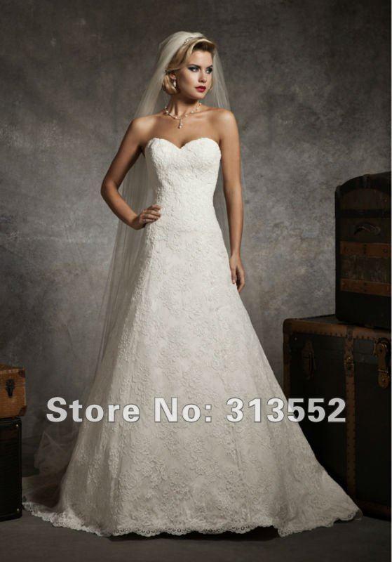 Justin Alexander Strapless Lace Wedding Dress - Wedding Short Dresses