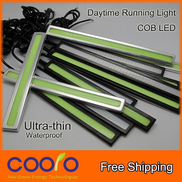 Ultra-thin 6W COB Chip New update 42 LED Daytime Running Light 100% Waterproof LED DRL Fog car lights(China (Mainland))