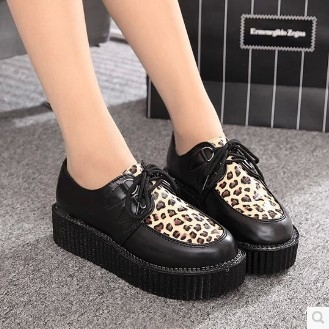 Creepers Size 35-41 women Shoes Woman Casual plus size zapatos mujer ladies creepers platform shoes Women Flats shoes platform