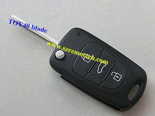 Hyundai I30 and IX35 3 button flip remote key blank