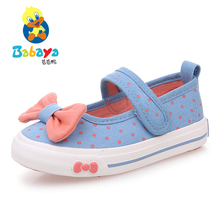 2015 casual brand new Summer casual low bow slip on shallow flat dance canvas toddle cute princess girls girl Children sneakers(China (Mainland))