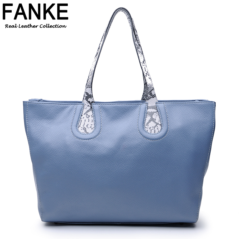 New Arrival 2016 Genuine Leather Bag Women Shoulder Bag Brand Fashion First Layer Of Cowhide Tote Big Bags High Quality Famous<br><br>Aliexpress