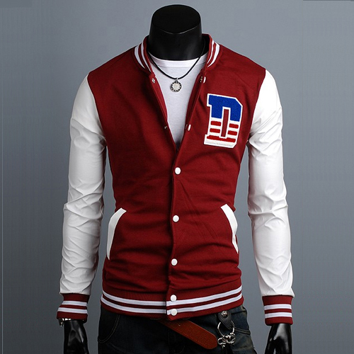 Male baseball uniform baseball long-sleeve slim casual shirt sweatshirt design short outerwear 2366