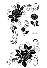 Rocooart HC01-25 Multi Colors Feather Stars Eagle Wing Temporary Tattoo Sticker Women Body Art Fake Tattoo Tattoo Sticker Taty