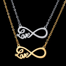 Buy 2017 New Fashion Stainless Steel Bijoux Amant Infinity Love Necklace Gold Color Chain Choker Pendant Necklace ) for $2.57 in AliExpress store