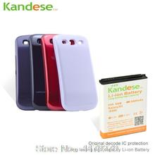 Kandese 6400mAh Extended Battery + back cover case for Samsung Galaxy S3 I9300 I9305 LTE I747 I535 T999 L710 R530(China (Mainland))