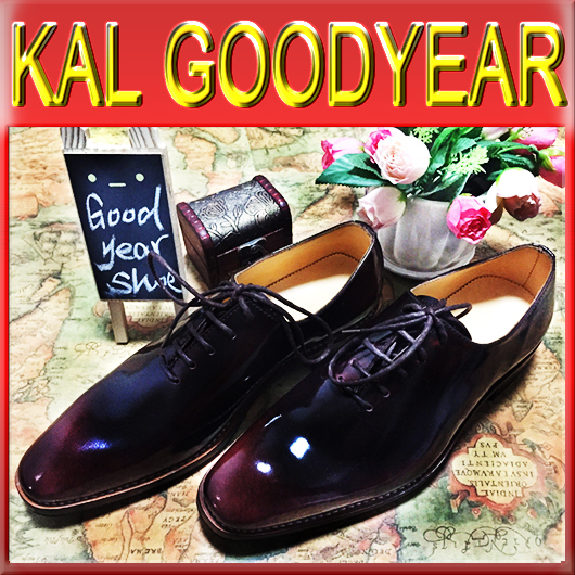 2015 Top Sale G108 Men Goodyear Welted Shoes Flats Oxfords Bespoke Genuine Leather Burgundy Glossy Casual Dress Loafers(China (Mainland))