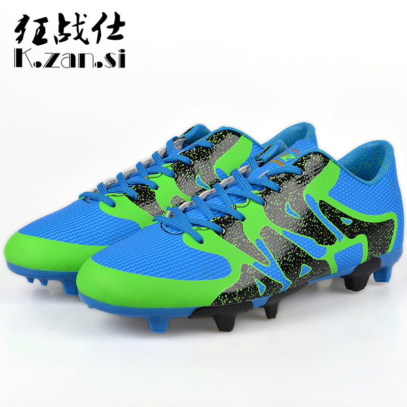 K.zan.Si Children's Soccer Shoes Shock Absorption Men Athletics Soccer Sneakers Professional Soccer Trainers chaussures de foot(China (Mainland))
