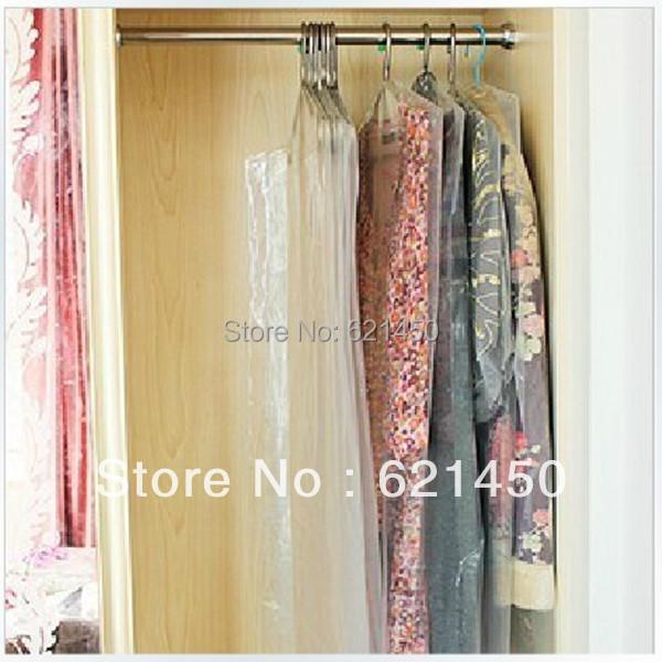 Clothing Dust Cover 8 Wire Transparent Plastic PE Suit Dustproof Storage Bag length 170CM for Wedding dress Evening dress(China (Mainland))