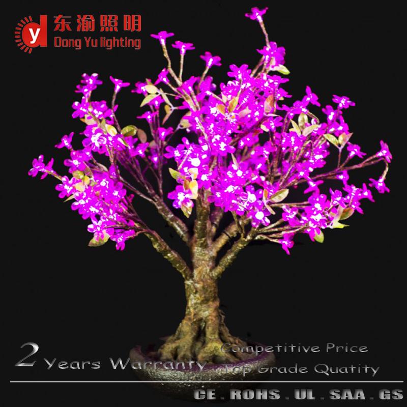 desktop decoration led light cherry bonsai tree(China (Mainland))