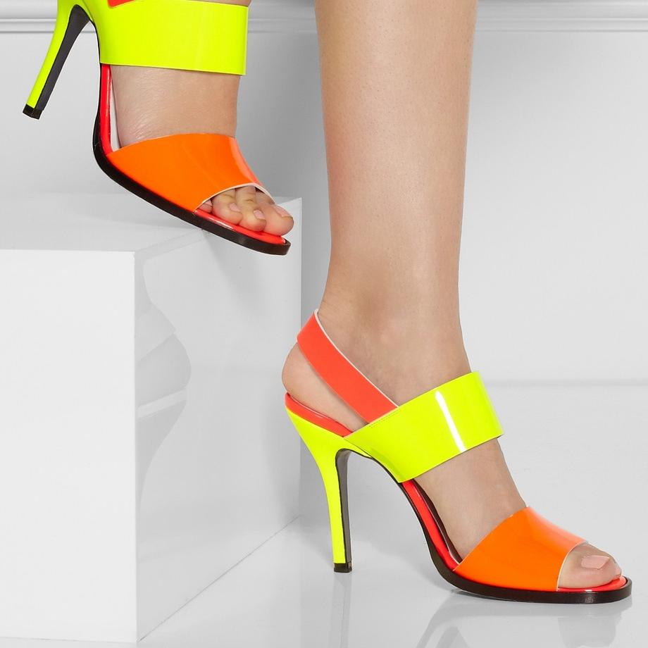 Yellow Orange Open Toe Women Sandals Thin High Heel Shoes Open Heel Criss Cross Strap Summer Sandal 2015 sapatos femininos<br><br>Aliexpress