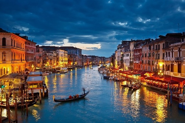 Hot Italy ,Venice city ,canals buildings Scenery Poster Silk Wall Home Decorative Printing -High quality Picture For Gift GJ(China (Mainland))