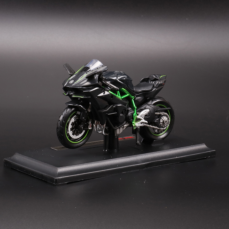 New 1/18 2016 Kawasaki H2R Black Motorcylce Diecast Model w/Removable Base Kids Gift Collection Gifts Free Shipping(China (Mainland))