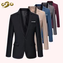 2016 New Style Spring&Summer Casual Blazer Men Slim Fit XXXL Costume Homme de Marque Masculino One Button Suit Jackets Coat Mens