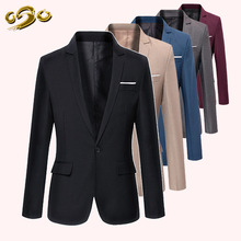 2016 New Style Spring&Summer Casual Blazer Men Slim Fit XXXL Costume Homme de Marque Masculino One Button Suit Jackets Coat Mens