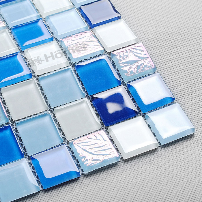 express shipping free!! blue crystal glass mosaic tiles 23x23mm,4mm thickness, Homer Mosaic , 11 sq ft/lot<br><br>Aliexpress