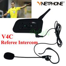 1PCS Football Referee Intercom Headset Vnetphone V4C 1200M Full Duplex Bluetooth Headphone with FM V4C Referee Interphone(China (Mainland))