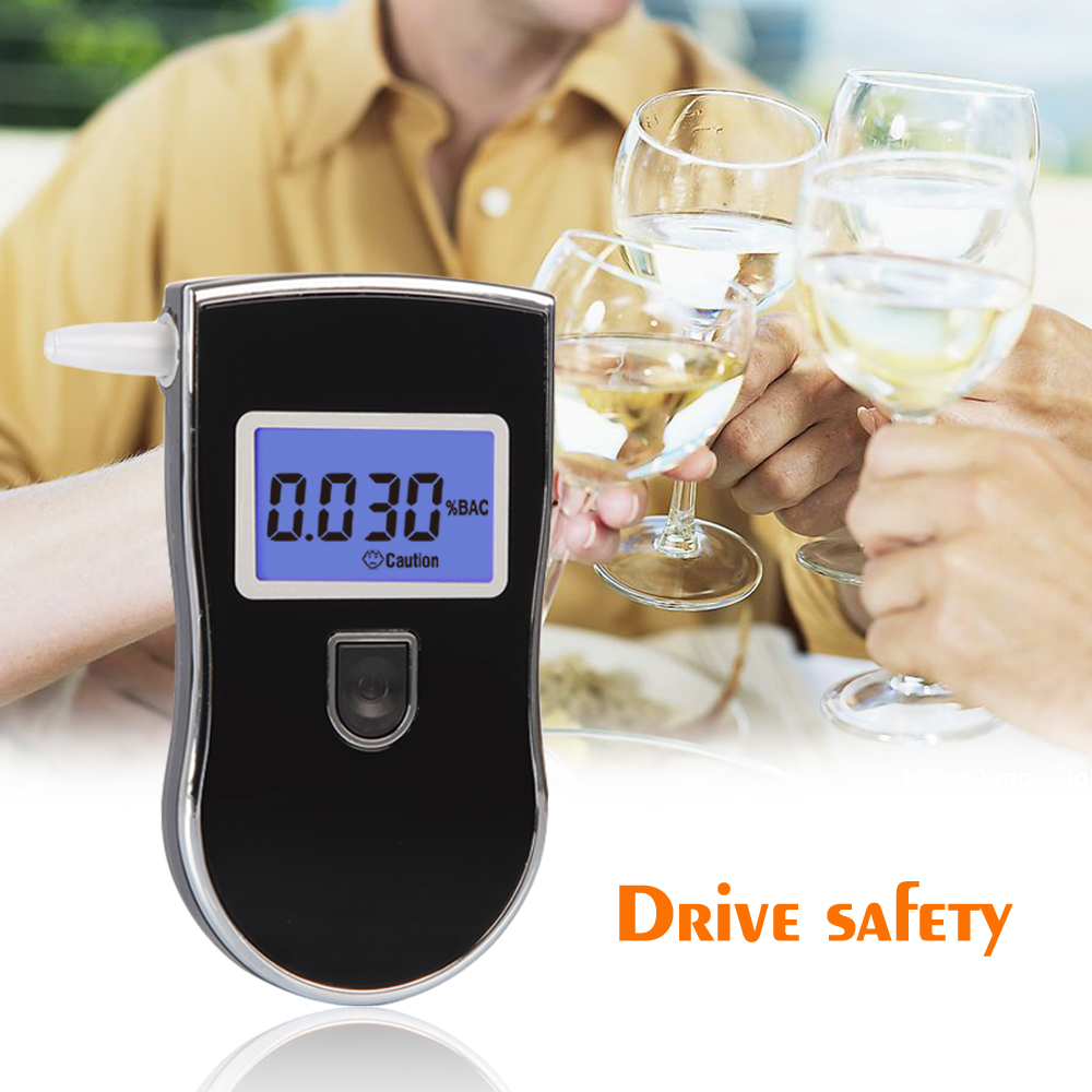 Send one bag 2pcs/lot Patent Professional Digital Breath Alcohol Tester with 3digital LCD display Blue Backlight 5pcsMouthpieces(China (Mainland))