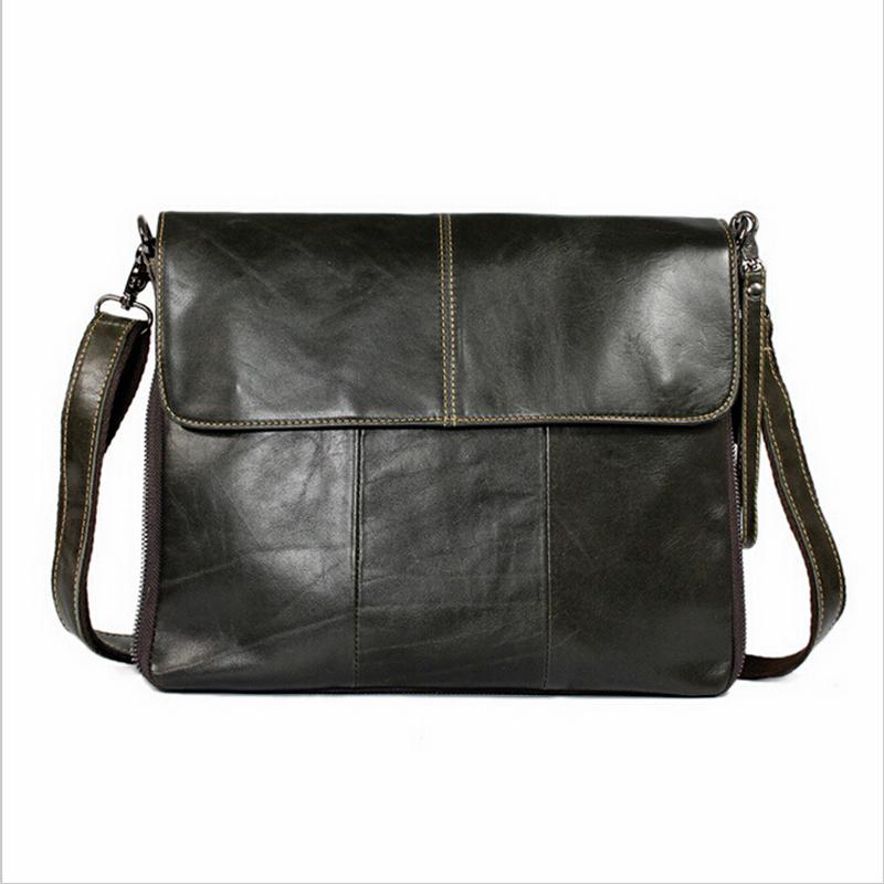Hot Cowhide Genuine Leather Mens Briefcase Messenger Bags Business Travel Bag Man Leather Vintage Crossbody Shoulder Bag 2015<br><br>Aliexpress