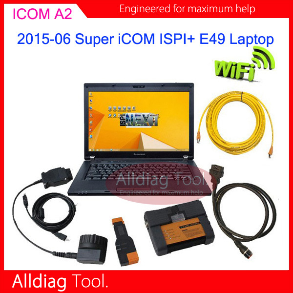 2015-06 Super I-COM A2 Wifi wirelesss with Laptop E49 Diagnostic ISPI NEXT system SSD runs faster(China (Mainland))