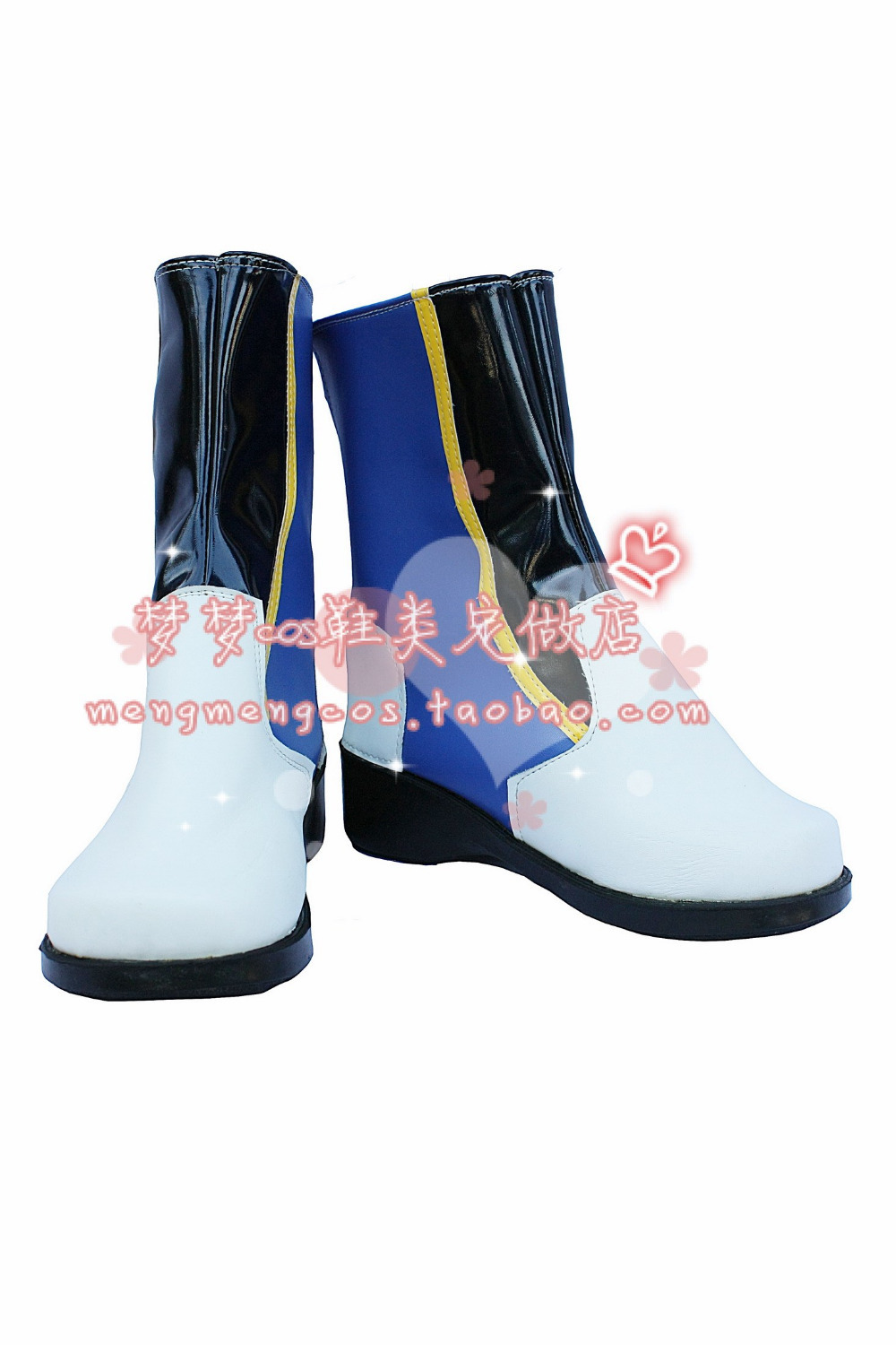 Vocaloid Miku Kaito Cosplay Shoes Anime Boots Customized<br>