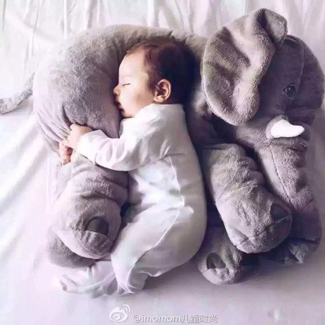 60 см 5 цветов слон плюшевые мягкие игрушки детские игрушки anminal большой размер успокоить ребенка спать подушку розовый ребенка спокойным куклы детские игрушки