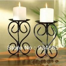 2pcs Free shipping Continental candlestick landing romantic candle flower shape candlestick(China (Mainland))