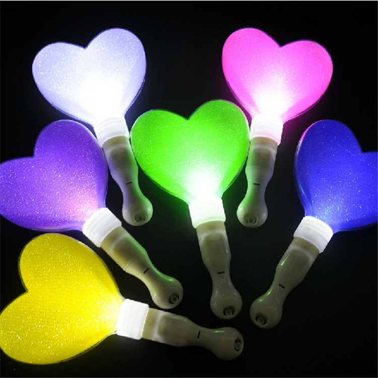 Novetly Cute heart shape LED stick flashing light stick glow in the dark Wedding Concert Event Party supplies decoration 20PCS <br><br>Aliexpress