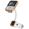 Lonleap New Wireless Bluetooth Aux Car Kit FM Transmitter USB Charger Car MP3 Player Support USB