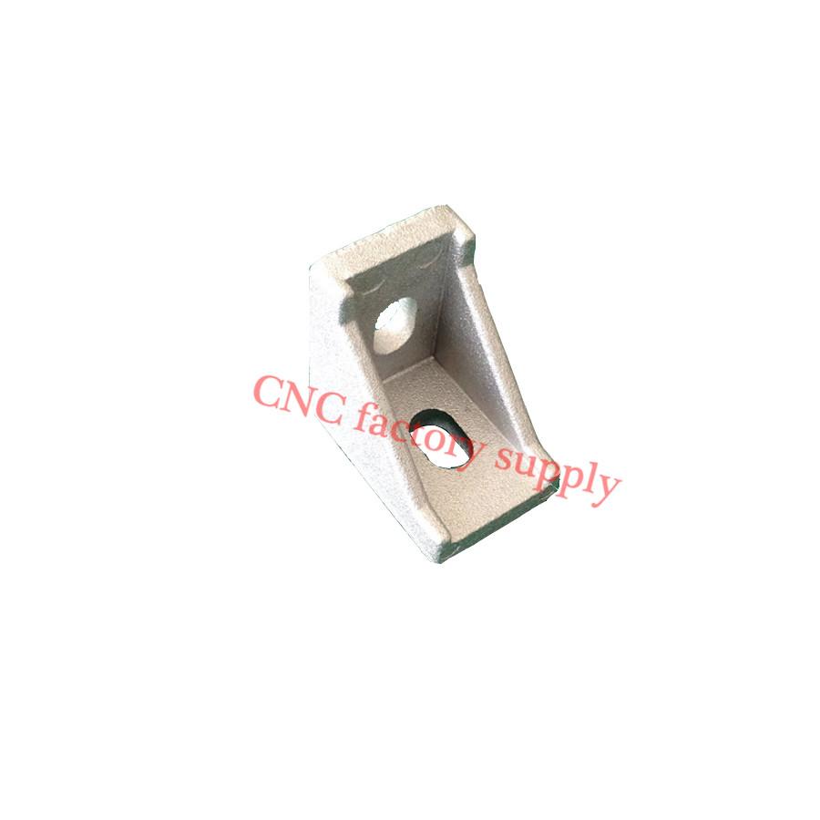 HOTSale 20pcs 2028 corner fitting angle aluminum 20 x 28 L connector bracket fastener match use 2020 industrial aluminum profile(China (Mainland))