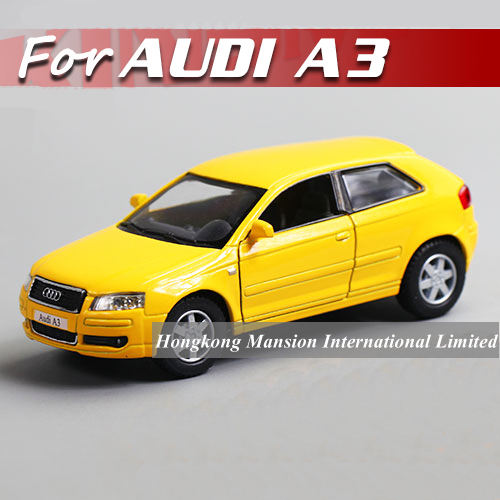 1:36 Scale Alloy Diecast Car Model For Audi A3 Sportback Collection Model Pull Back Toys Car - Yellow(China (Mainland))