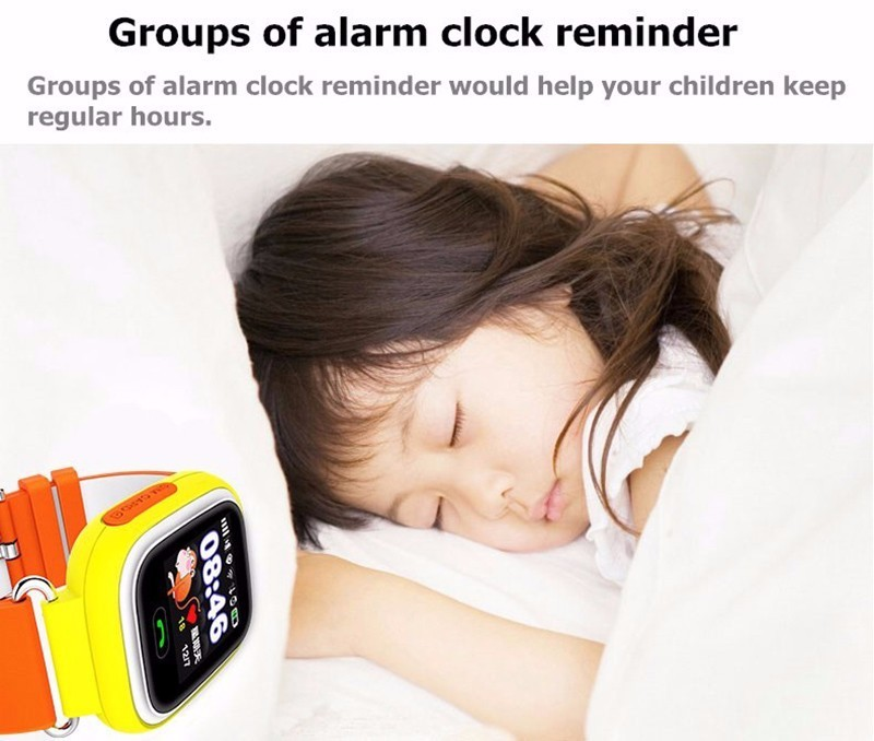 image for Q90 GPS Touch Screen WIFI Position Smart Watch Children SOS Call Locat