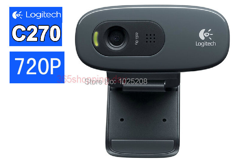 100% Logitech C270 HD Vid 720P Webcam With MIC Micphone Video Calling For Android TV(China (Mainland))