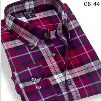long sleeve leisure checked shirts men ,men's plaid shirts fashion flannel shirts, men's formal business long shirt high quality(China (Mainland))