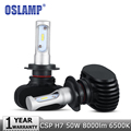 Oslamp H7 Car LED Headlight Bulb CREE CSP Chips 50W 8000lm 6500K Auto Led Headlamp DRL