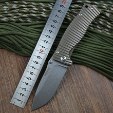 2015 nueva italia león acero molletta TC4 titanium D2 cuchilla cuchillo plegable táctico de la caza que acampa al aire libre bolsillo de la supervivencia cuchillos