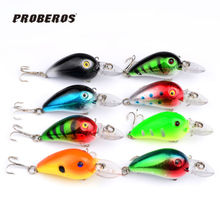 New Free Shipping 8pcs/set 6cm/5.5g Crank Bait Popper Fishing Lures Tackle Wobblers Crankbaits Isca Artificial Bait