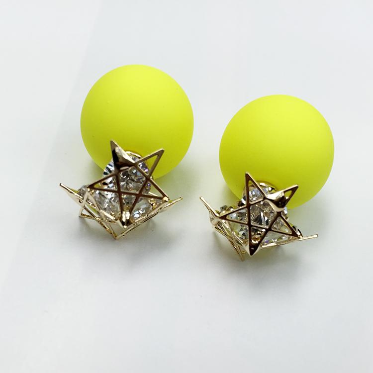 2016High quality High-end luxury stars shine set zircon stud earrings Korea popular jewelry Free shipping Buy two,get one free(China (Mainland))
