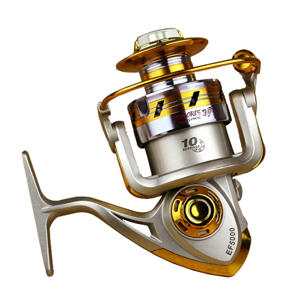 2015 NEW EF1000-EF7000 Metal Spool Spinning Fishing Reel High Speed 10BB Cheap Spinning Reels Fishing Carp Fishing Free Shipping(China (Mainland))