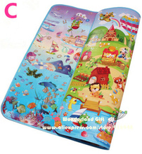 New classic playmat,double-Site Baby Play Mat 2*1.8 Child Beach Mat Picnic Carpet Baby Crawling Mat lovely styles,baby kids toys(China (Mainland))