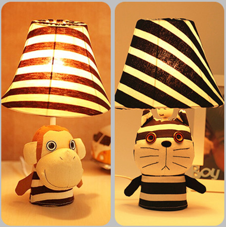 free shipping Monkey cat lamp warm bedroom bedside lamp dimmer creative cartoon children cute boy student gift Table Lamps<br><br>Aliexpress