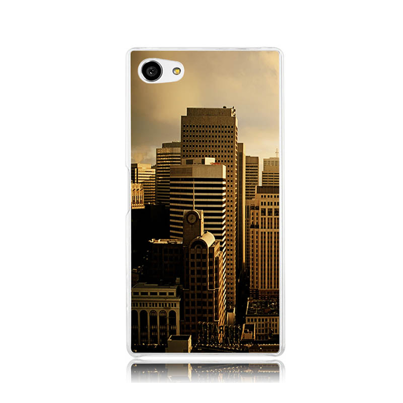 San Francisco Buildings Wallpaper Plastic Protective Shell Skin Bag Case For Z5c z5 z2 z3 z4 Cases Hard Back Cover(China (Mainland))