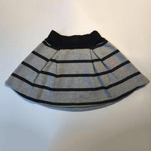 wholesale new 2016 spring autumn girls cotton stripe gray skirt(China (Mainland))