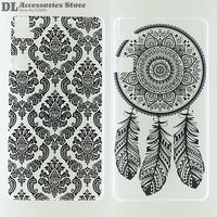 Case For BQ Aquaris E6 Black White Hollow Out Texture Coloured Drawing Phone Cover for BQ E6 Fashion Plastic Hard Phone Cases
