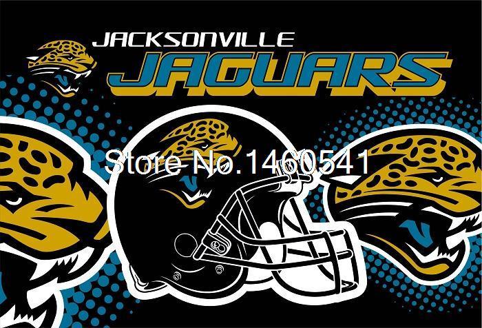 Jacksonville Jaguars New Wordmark Flag 3ft x 5ft Polyester NFL Jacksonville Jaguars Banner Size No.4 144* 96cm QingQing Flag(China (Mainland))