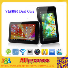 "New Arrival 7"" Tablet PC Dual Core Cortex A9 1.5GHZ Dual Camera HDMI VIA 8880 Tablet PC,10pcs/lot(China (Mainland))"