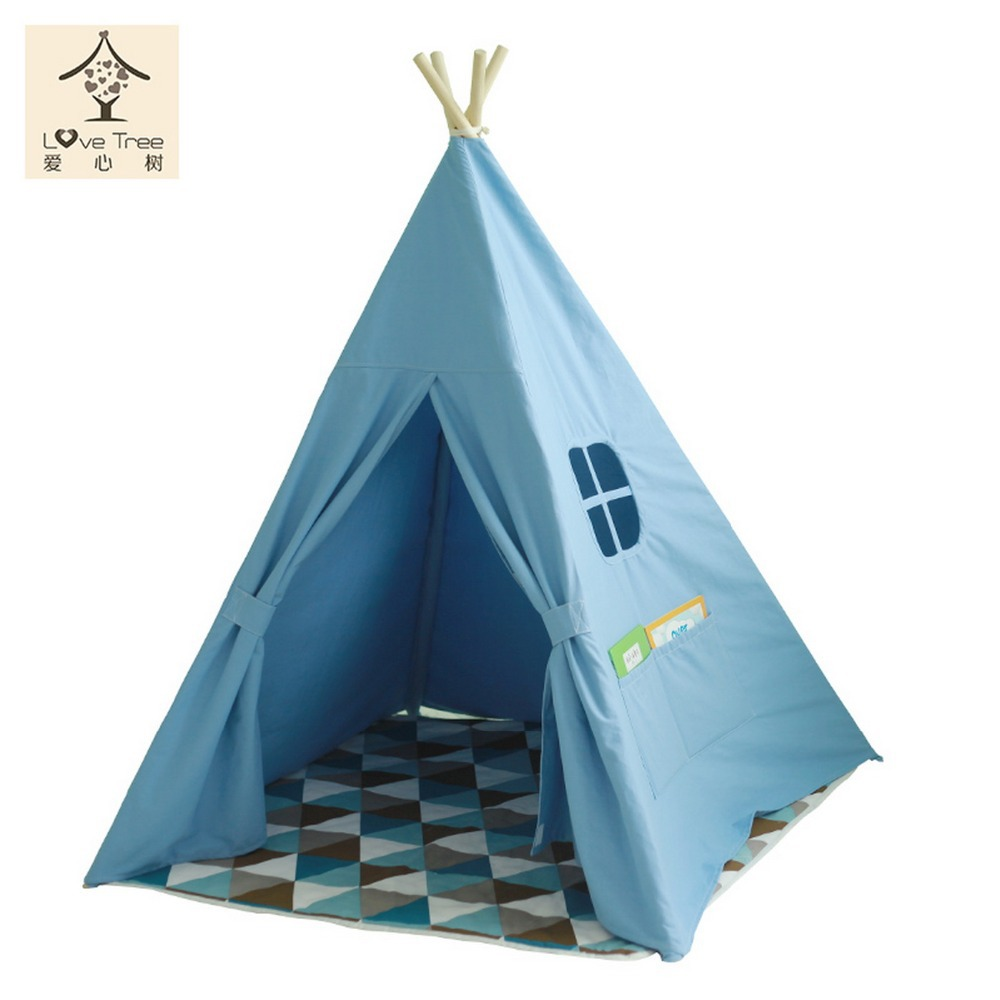 Teepee Kids Diy Play Children Play House Toy Tent Indian